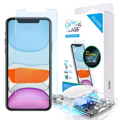 [화이트스톤] 아이폰11 돔글라스 풀커버 강화유리 액정보호필름