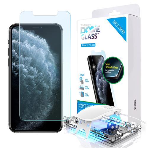 [화이트스톤] 아이폰11pro Max 돔글라스 풀커버 강화유리 액정보호필름