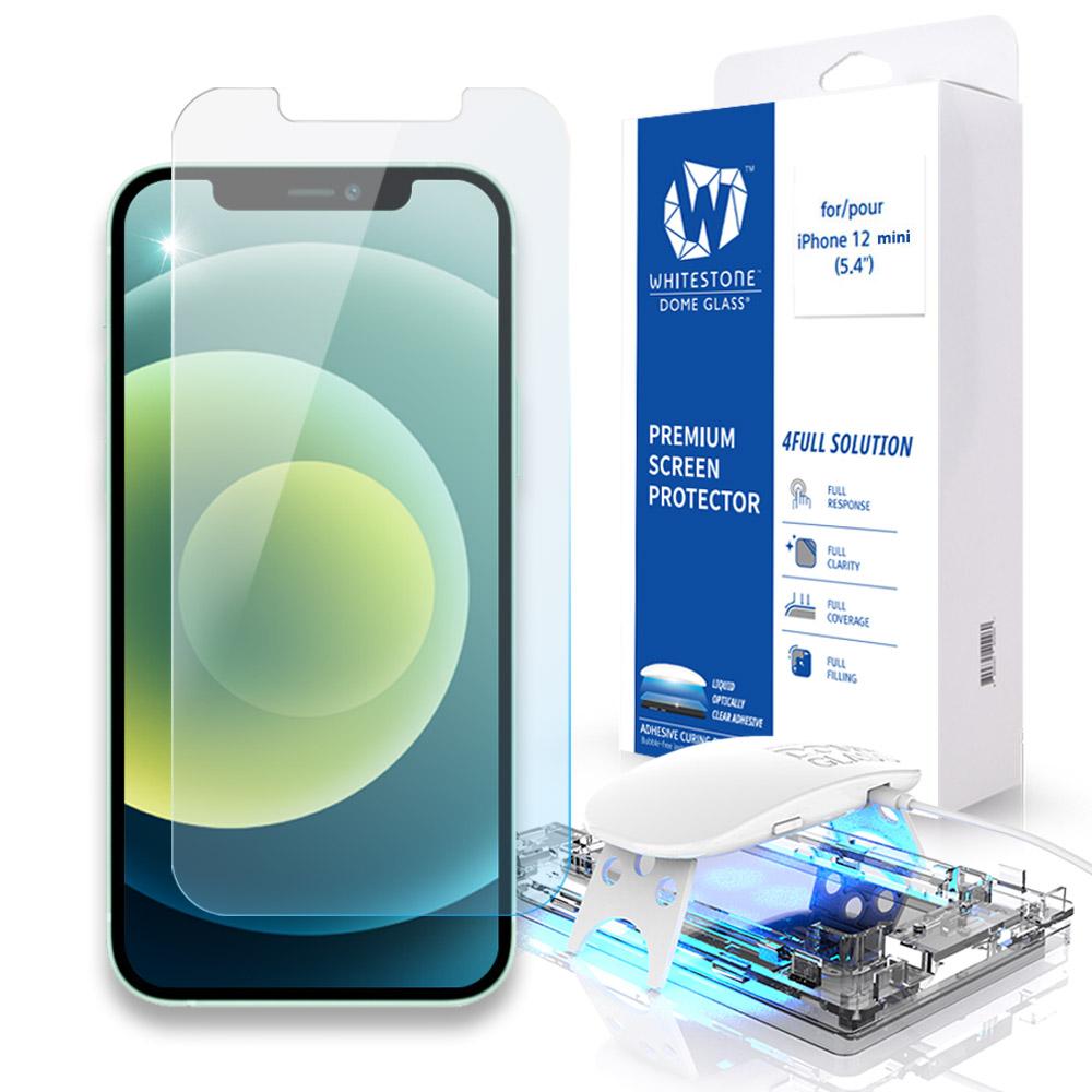 [화이트스톤]아이폰12미니 (5.4인치) 돔글라스 풀커버 강화유리 액정보호필름
