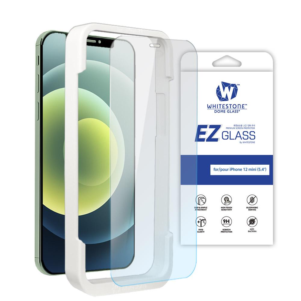 [화이트스톤][AS제외상품] 아이폰12미니 (5.4인치) EZ글라스 풀커버 일반 점착식 강화유리 액정보호필름