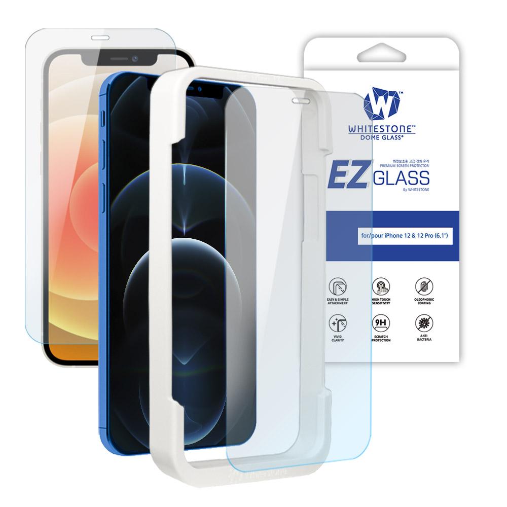 [화이트스톤][AS제외상품] 아이폰12/아이폰12프로 (6.1인치) EZ글라스 풀커버 일반 점착식 강화유리 액정보호필름